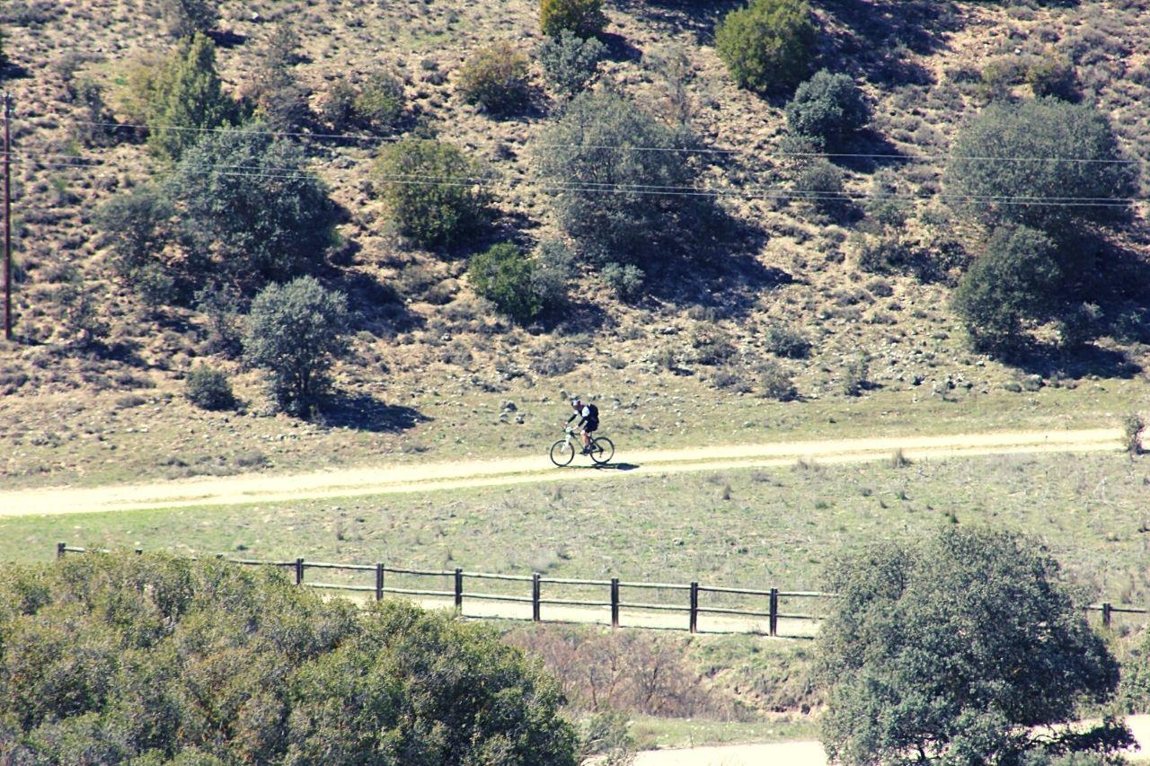 Ciclista en el Tour de Hierro