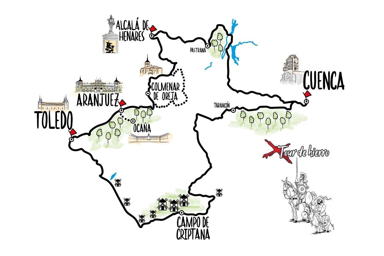 Mapa Tour de Hierro