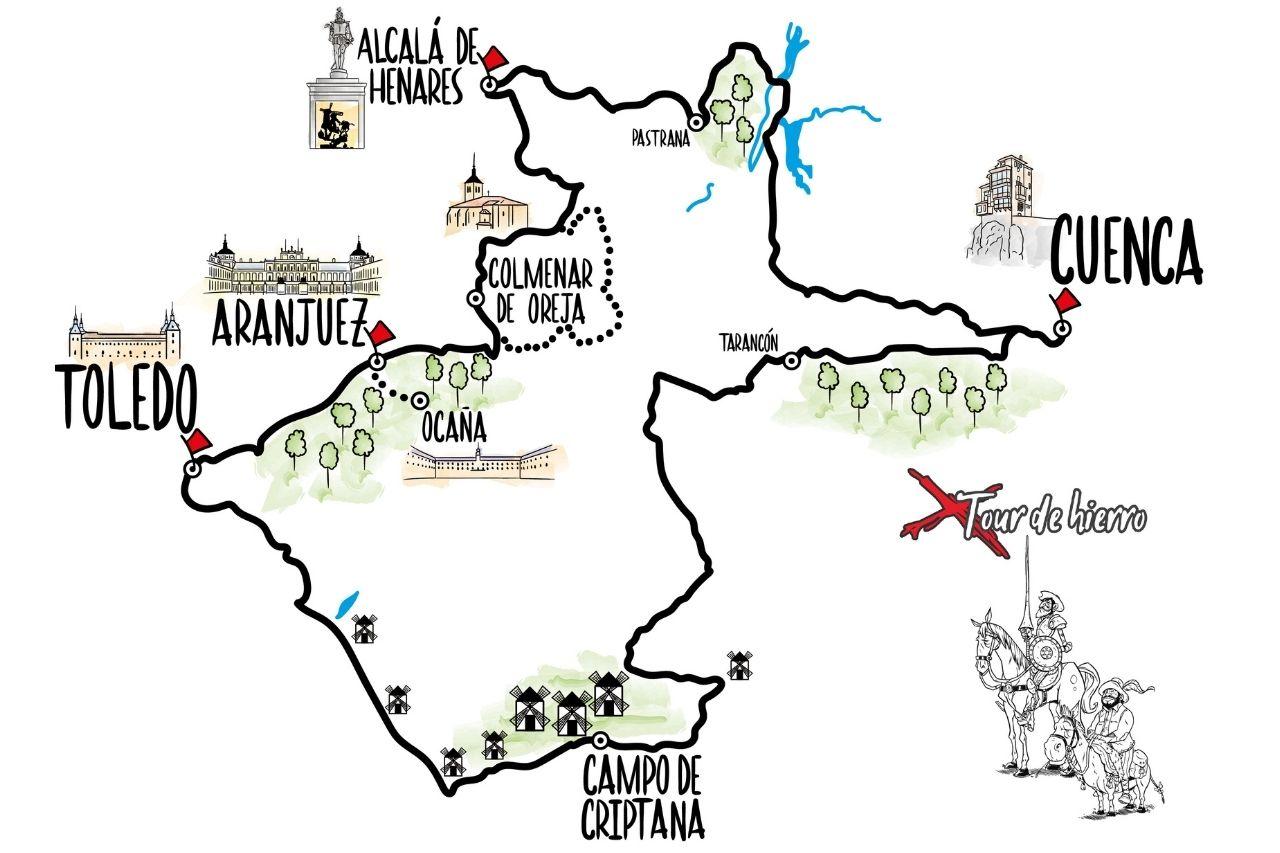 Mapa del Tour de hierro